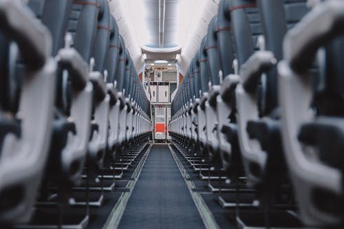 Black and White Train Seats