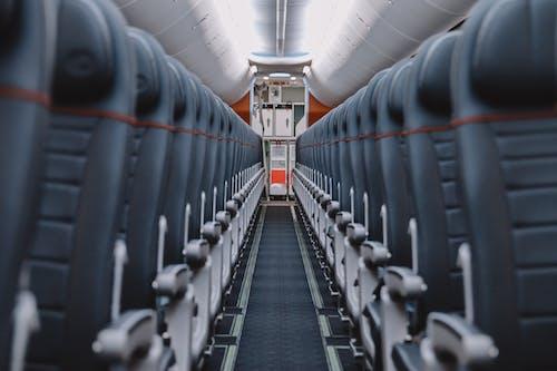 Black and Silver Train Seats