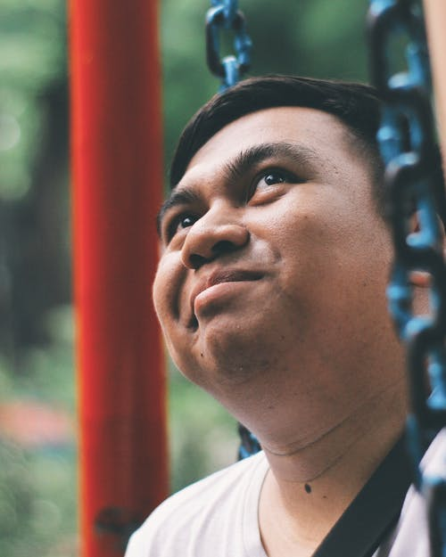 Free stock photo of male, people, playground, portrait