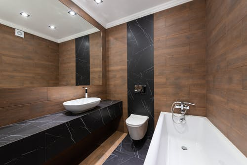 Free stock photo of apartment, bathroom, bathtub