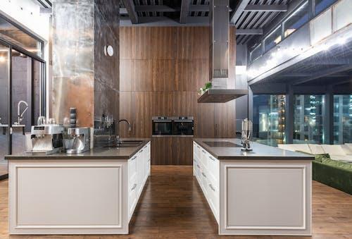 Interior of modern kitchen zone
