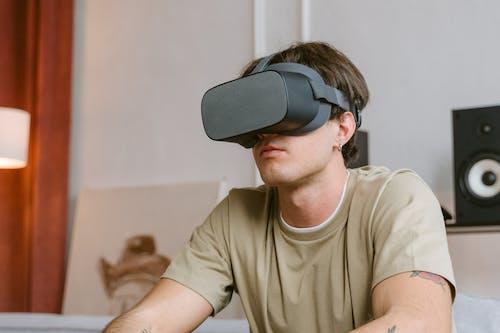 A Man Wearing a VR Headset