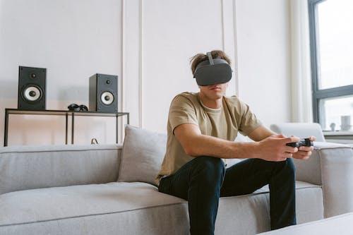 Δωρεάν στοκ φωτογραφιών με gamer, vr ακουστικά, αναψυχή