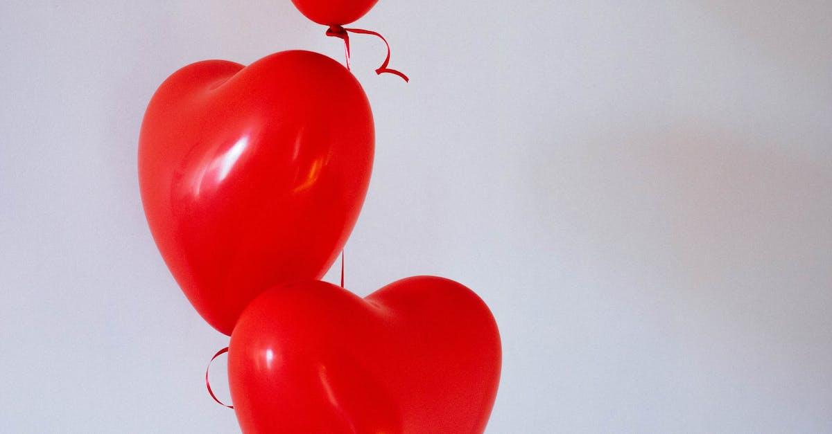 Three Red Heart Balloons 183 Free Stock Photo