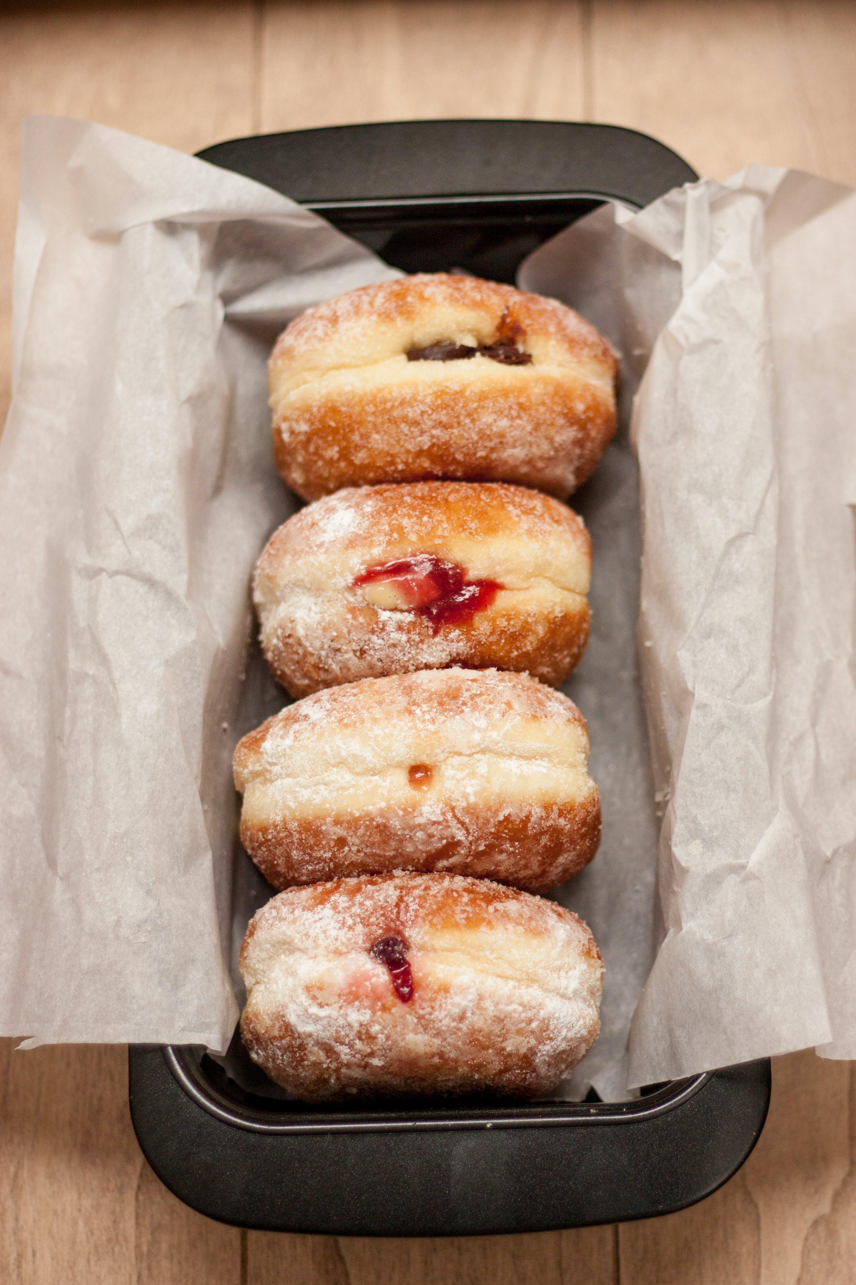 berliner, dessert, donuts