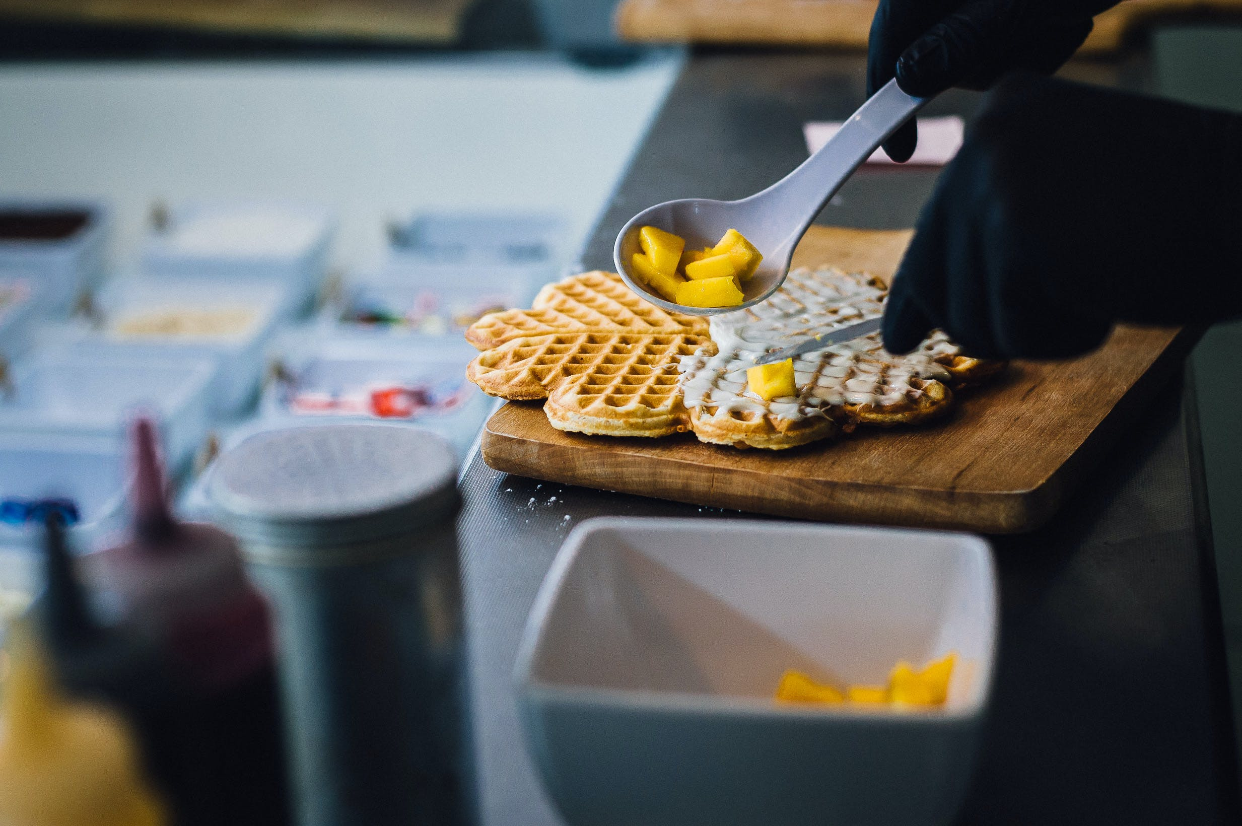 Free stock photo of chef, cooking, danish waffle, food