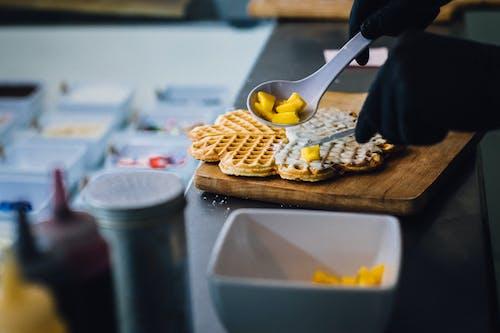 Free stock photo of chef, danish waffle, food