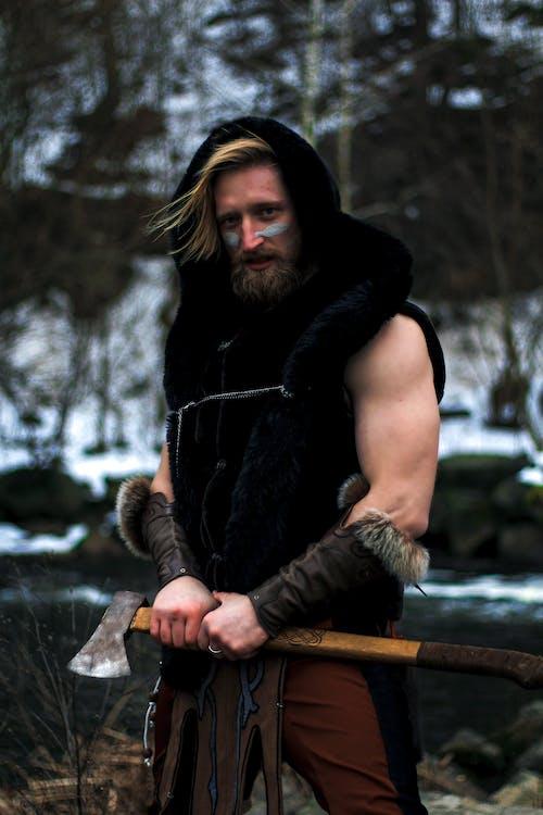 Free stock photo of adult, beard, blood