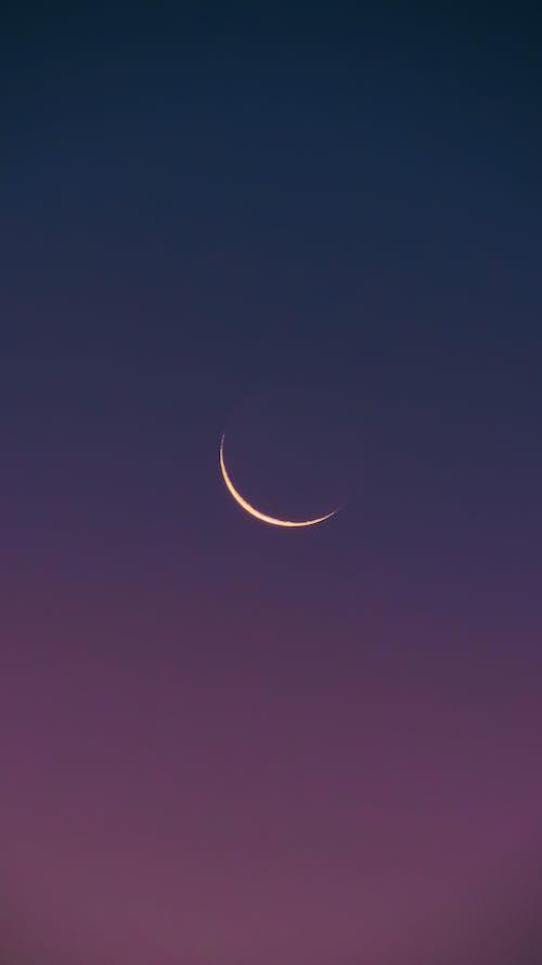 Free stock photo of half moon, luna, lunar