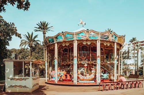 A Carousel in an Amusement Park