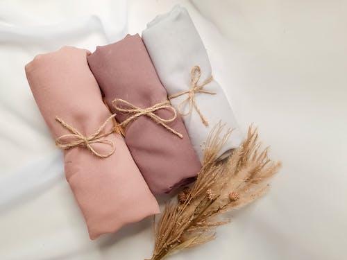 Close-Up Shot of Wrapped Fabrics