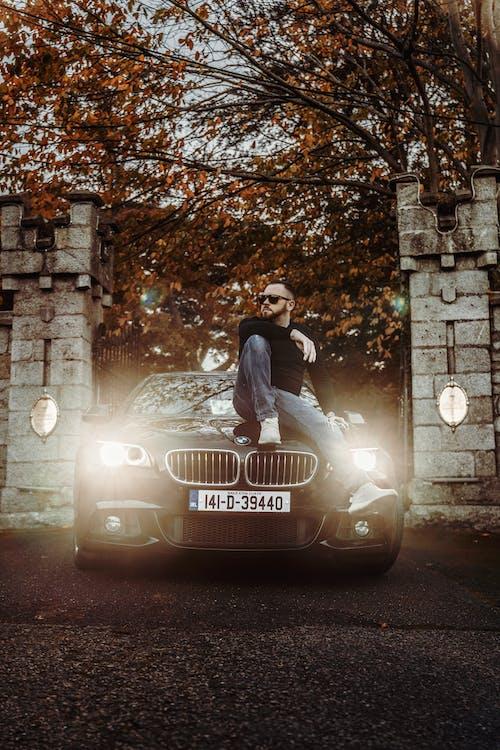 Foto stok gratis BMW, cahaya, cewek