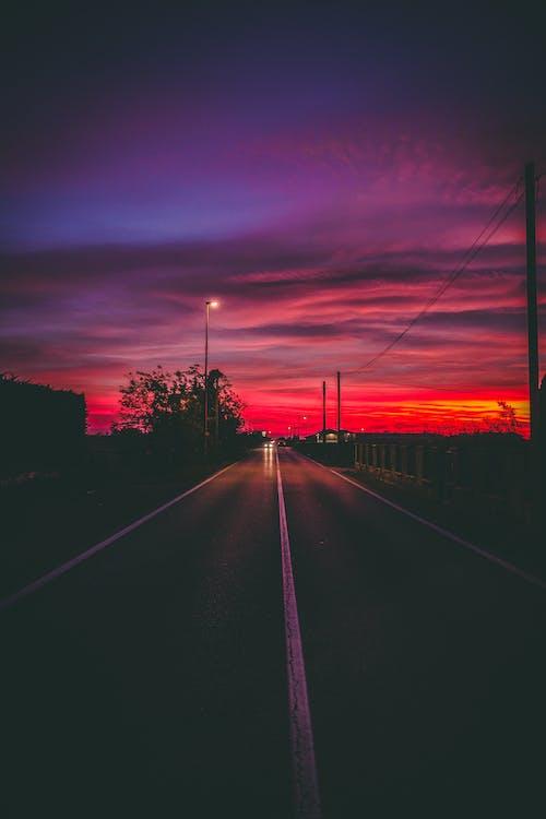 Gratis stockfoto met asfalt, auto's, avond, avondlucht