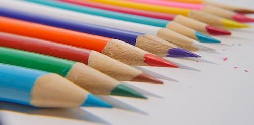 Foto stok gratis bidikan close-up, dipertajam, pensil warna