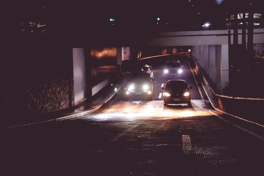 Photo of Cars in Tunnel during Nightime