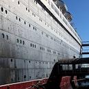 ship, pier, dock