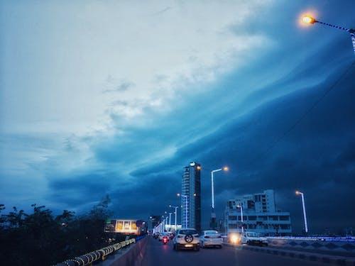 Бесплатное стоковое фото с атмосферный вечер, буря, голубой