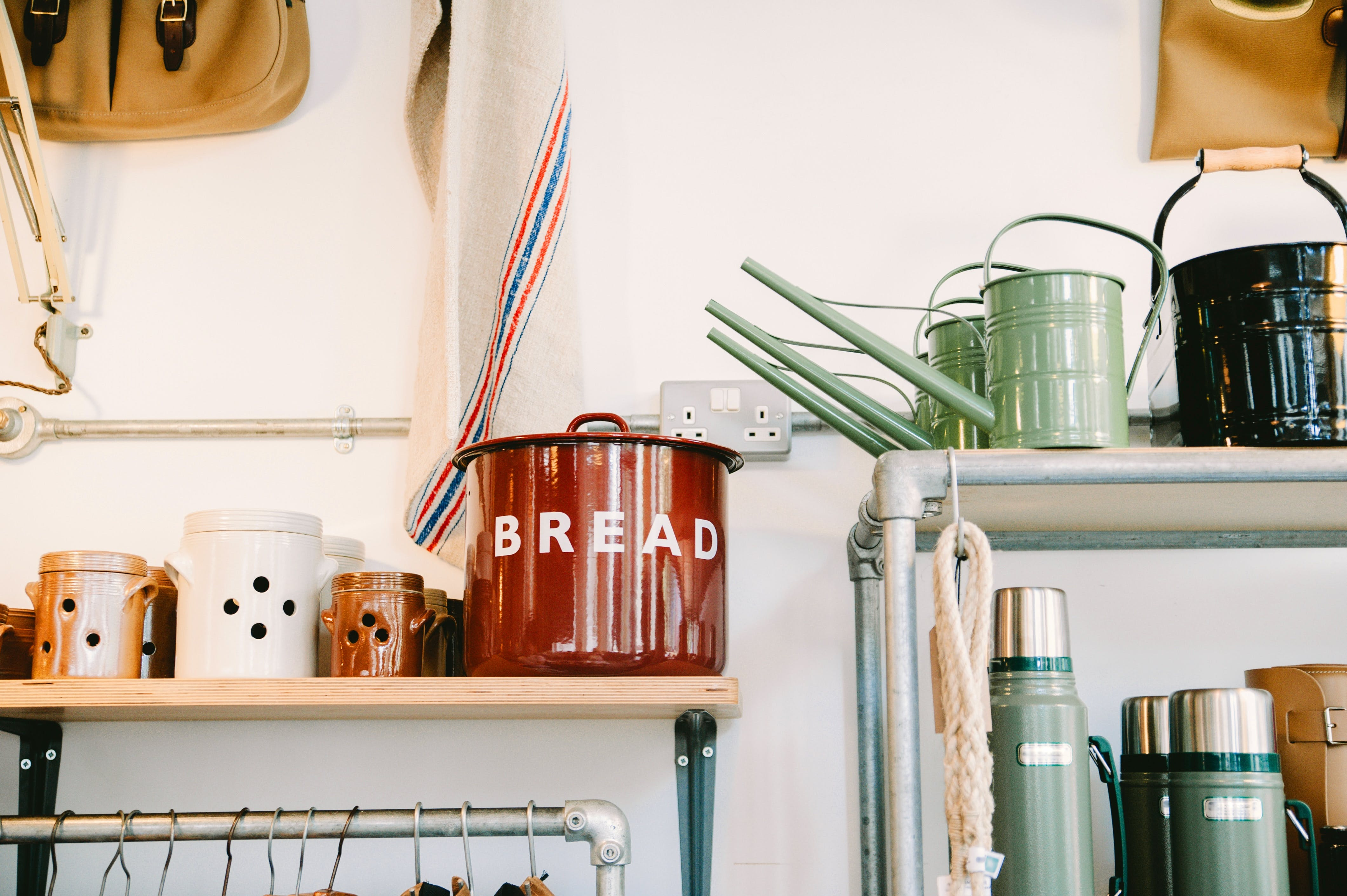Kitchenware on Side Tables