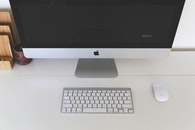 apple, desk, office