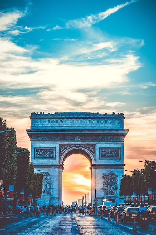 ánh sáng ban ngày, Arc de triomphe, bầu trời