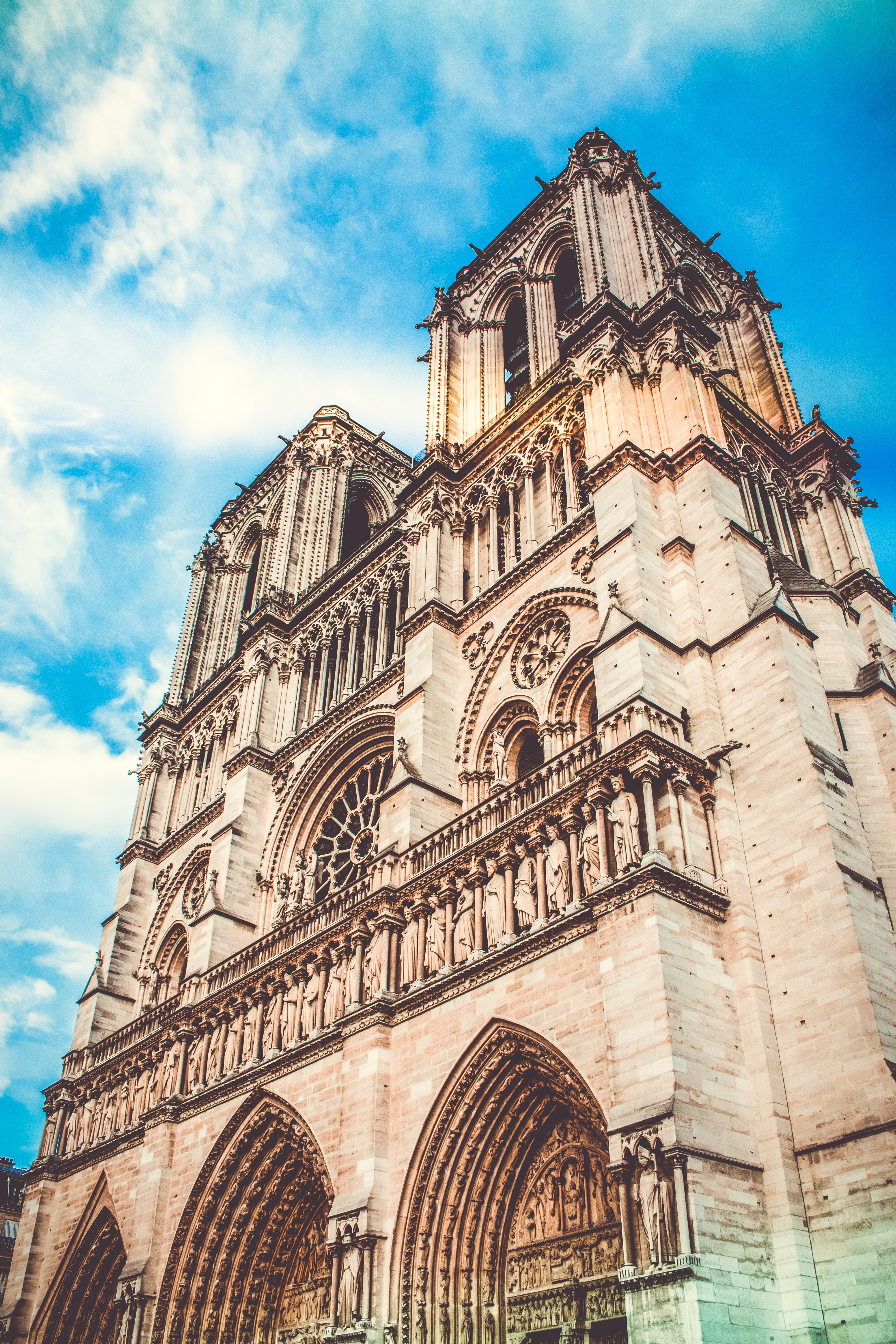 Low-angle Photography of Notre Dame