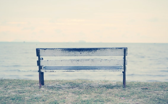 Free stock photo of bench, sea, stool, sky