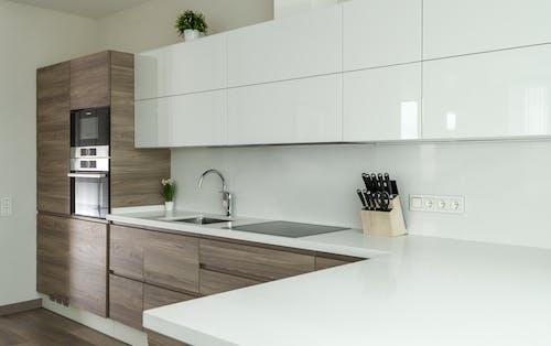 Modern kitchen design with built in appliances