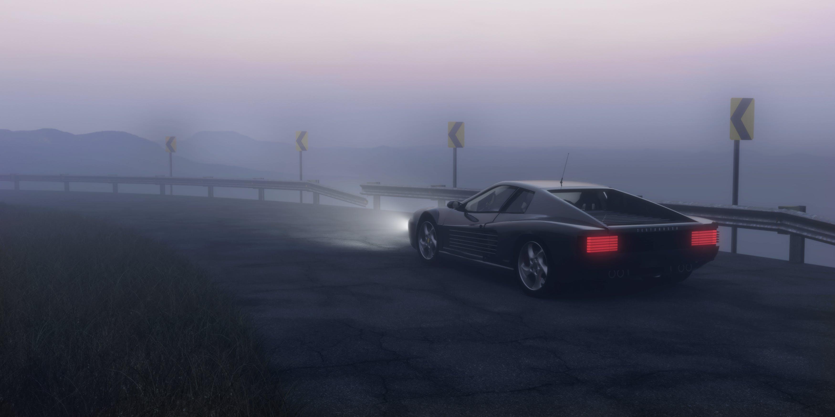Gratis arkivbilde med asfalt, bevegelse, bil, bue