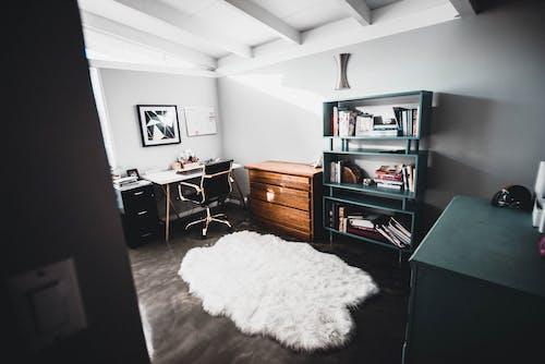 Základová fotografie zdarma na téma apartmán, design interiéru, domácí interiér, domácí kancelář