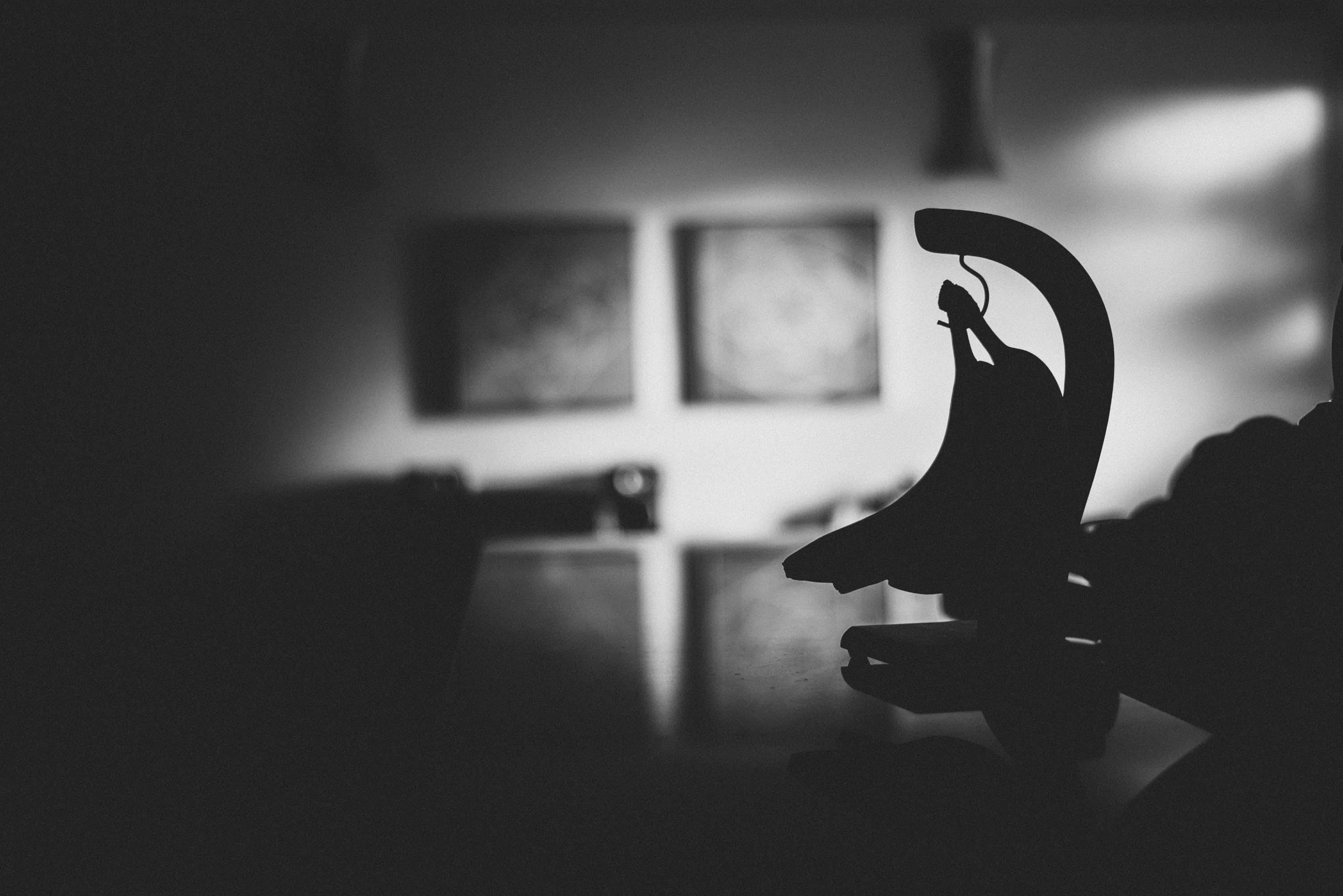 Silhouette Photography of Banana Hook Decor
