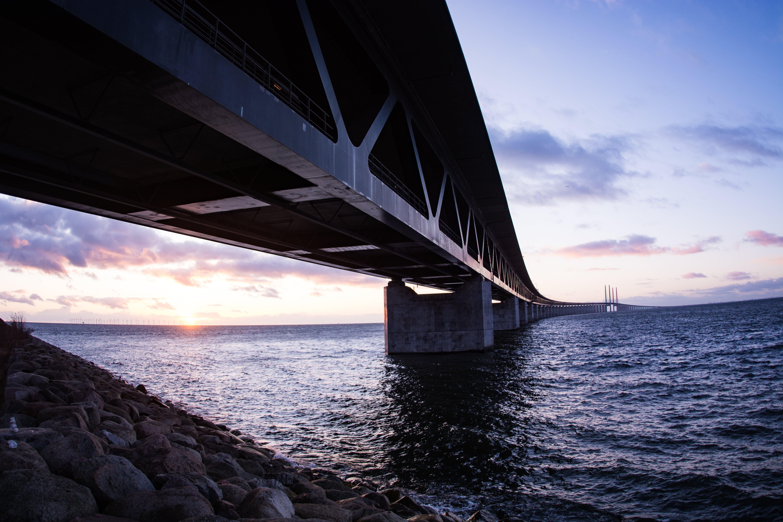 Black Bridge during Sunset