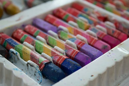 Free stock photo of child, colored pencils, colors, crayons