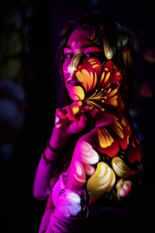 Creative Photography Using Light Projection