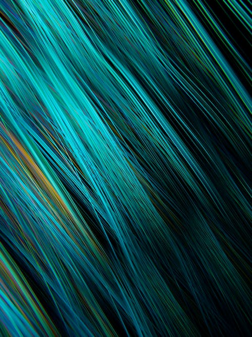 Green and Blue Abstract Painting