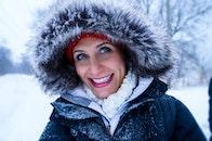 Close Up Photo of Woman Wearing Black Zip-up Parka Coat during Snow Season