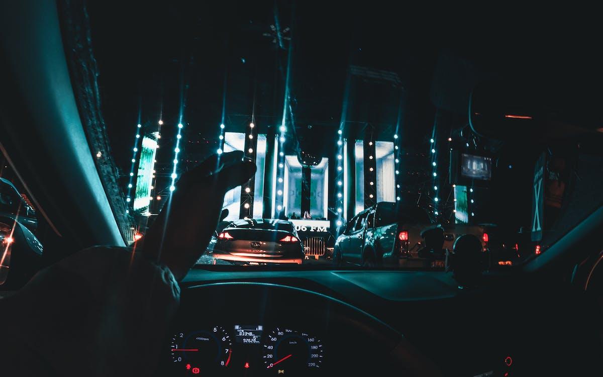 Foto stok gratis cahaya biru, di malam hari, GoPro