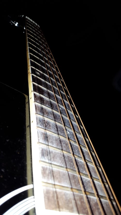 Free stock photo of aman khandelwal, black background, black guitar