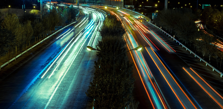 Free stock photo of car lights, cars, city, city lights