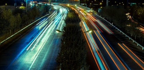 Free stock photo of car lights, cars, city
