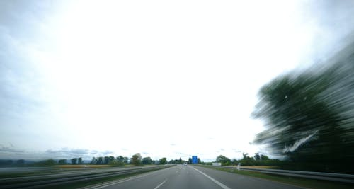 Free stock photo of automobile, blue, blurred motion