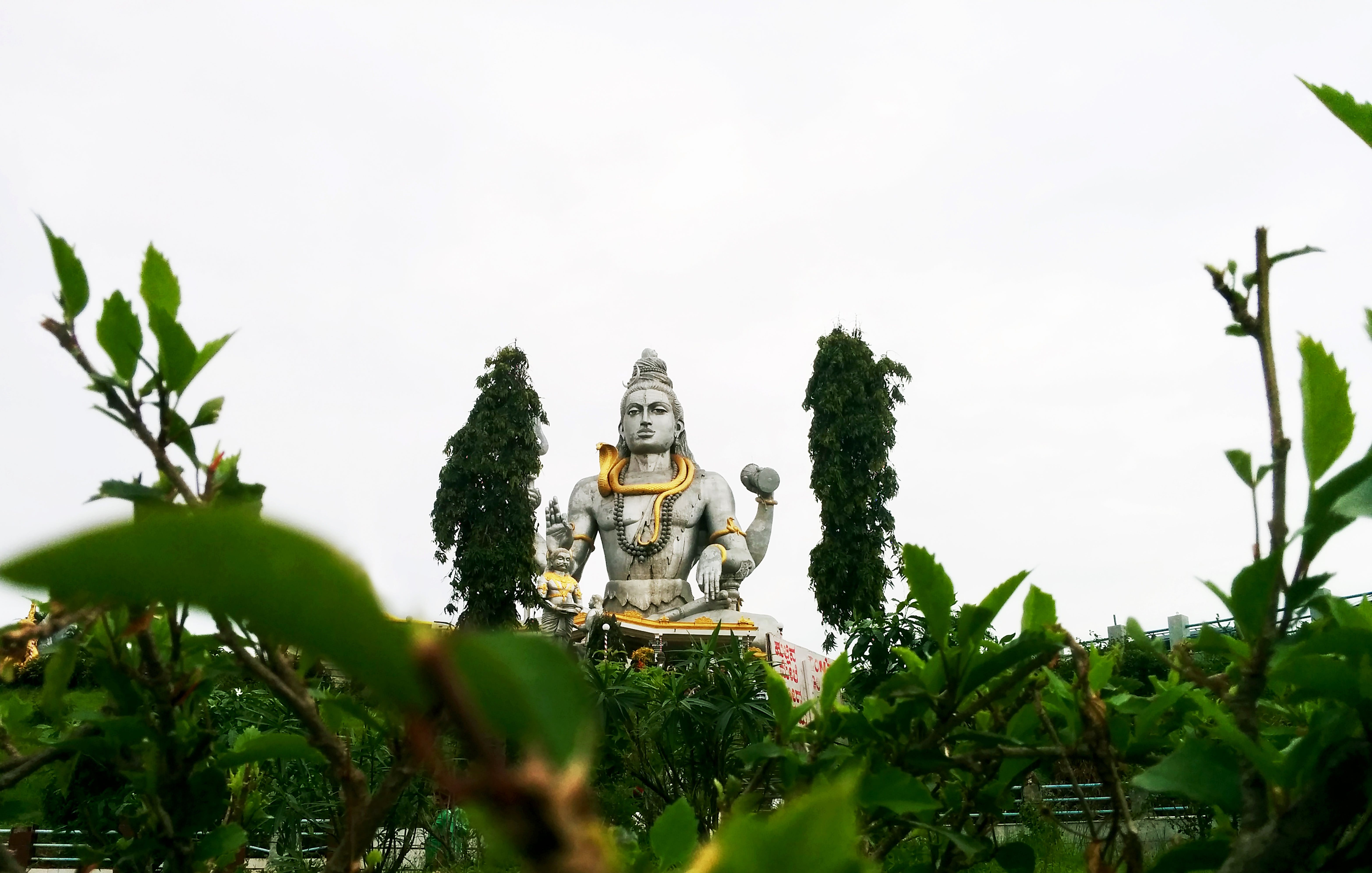 Statue on Other Side of Green Trees