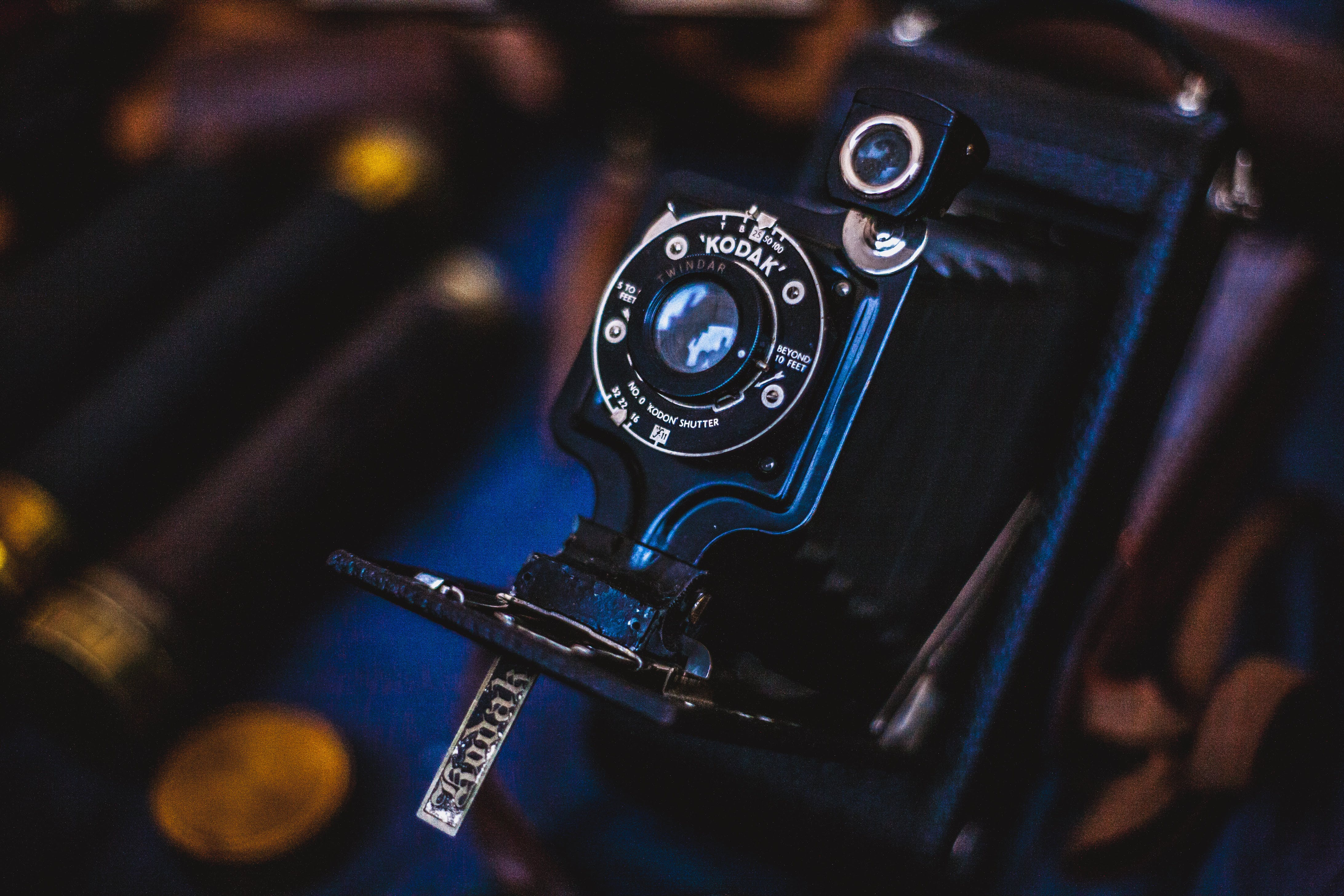 Free stock photo of camera, dark, vintage, technology