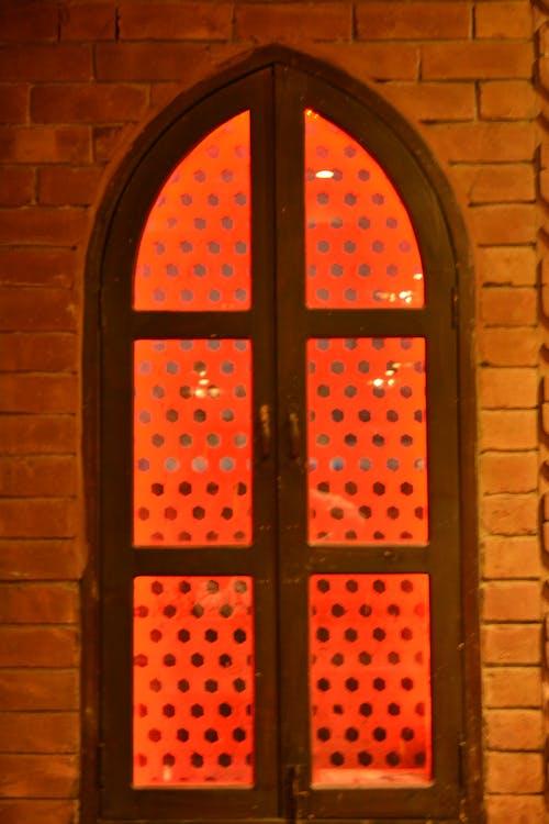 Free stock photo of orange window