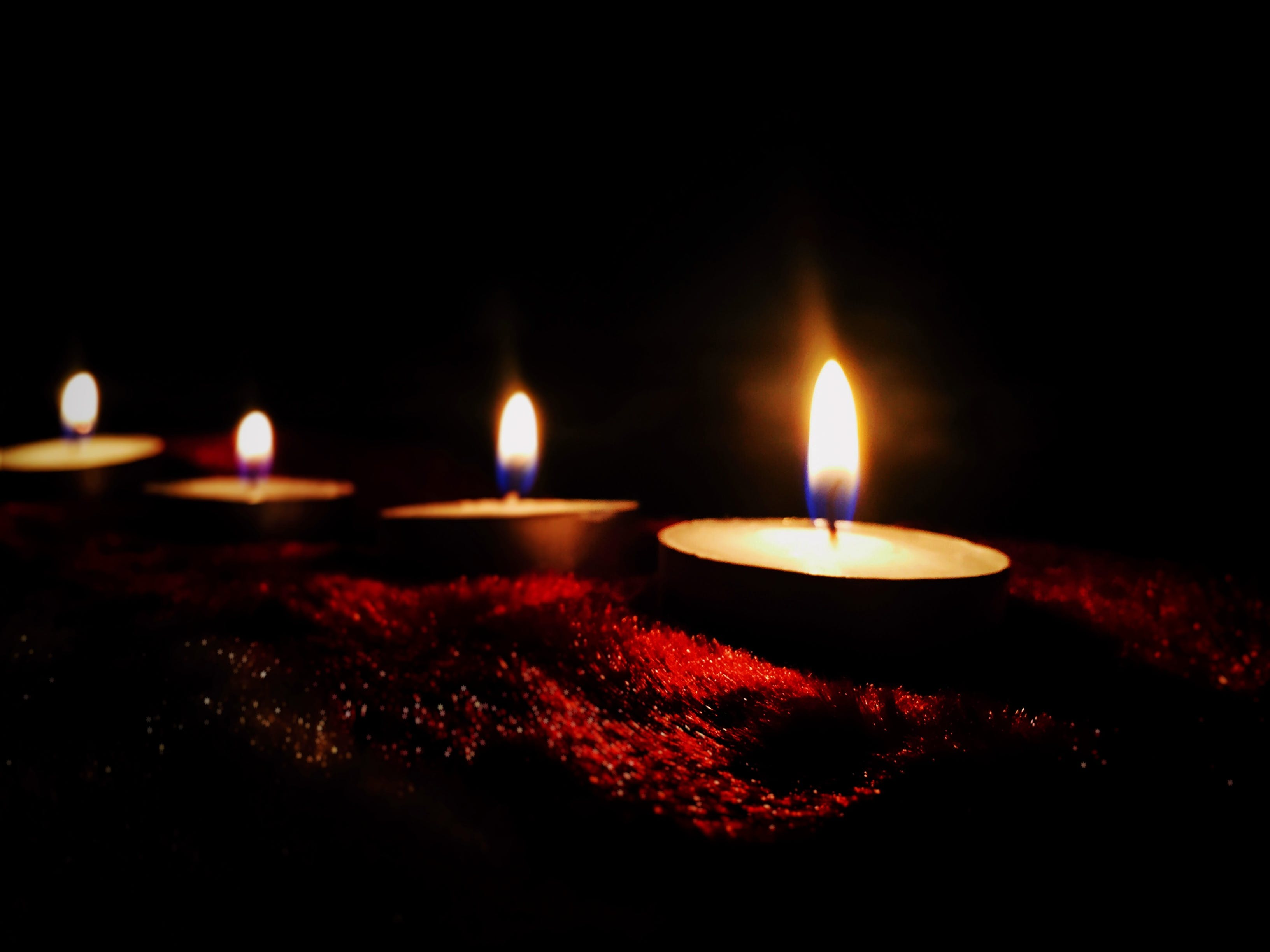 Four Lighted Candles