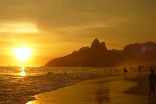 Photos gratuites de ciel, côte, coucher de soleil, eau