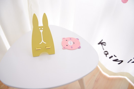 Yellow Rabbit Table Decor