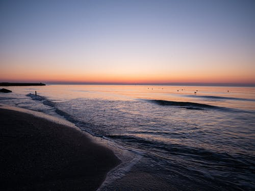 A View of a Beautiful Horizon from a Beach