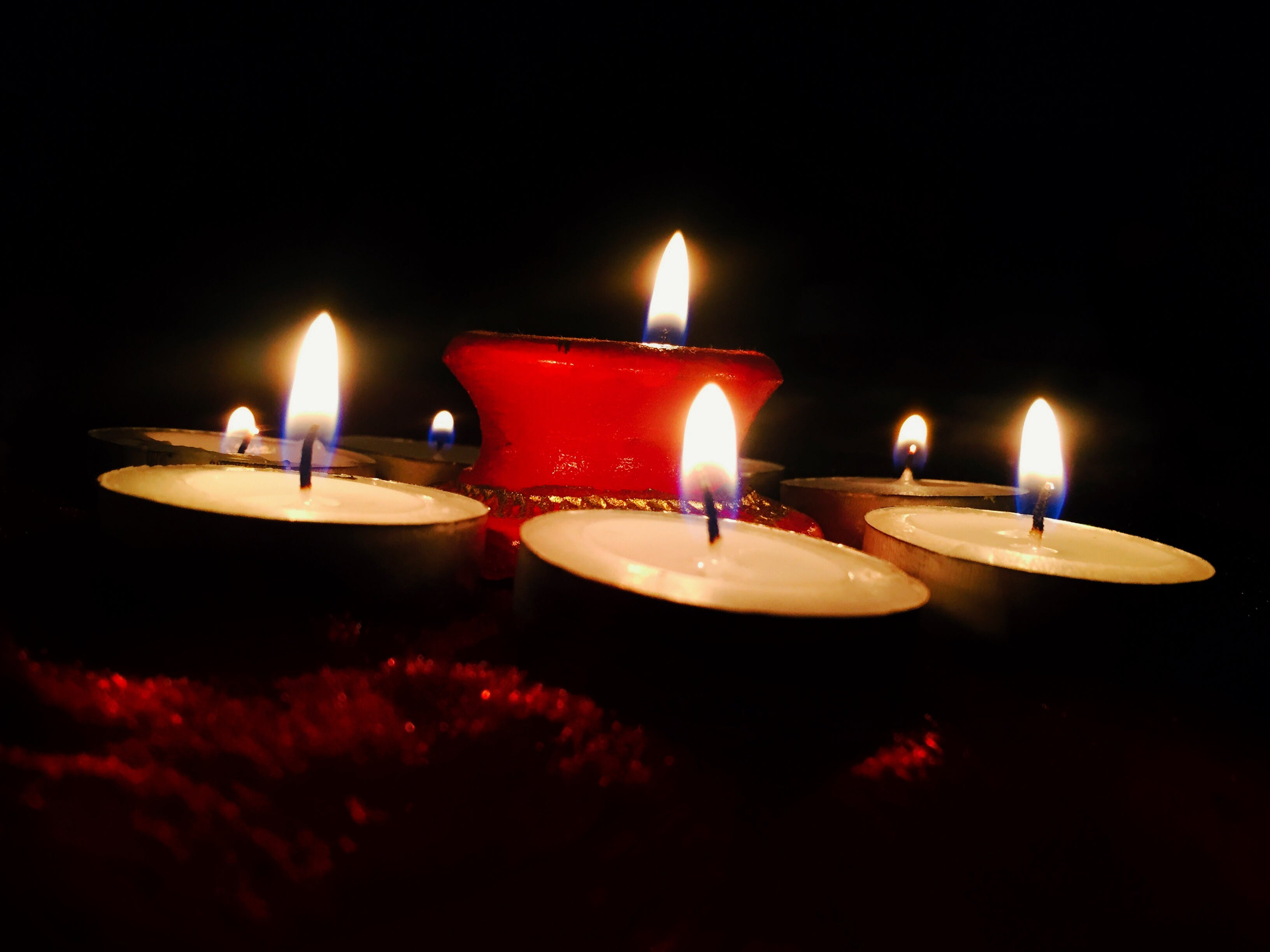 Free stock photo of Candlelights, desktop backgrounds, HD wallpaper, low angle photography