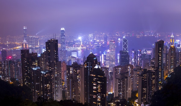 Scenic View of City During Nighttime