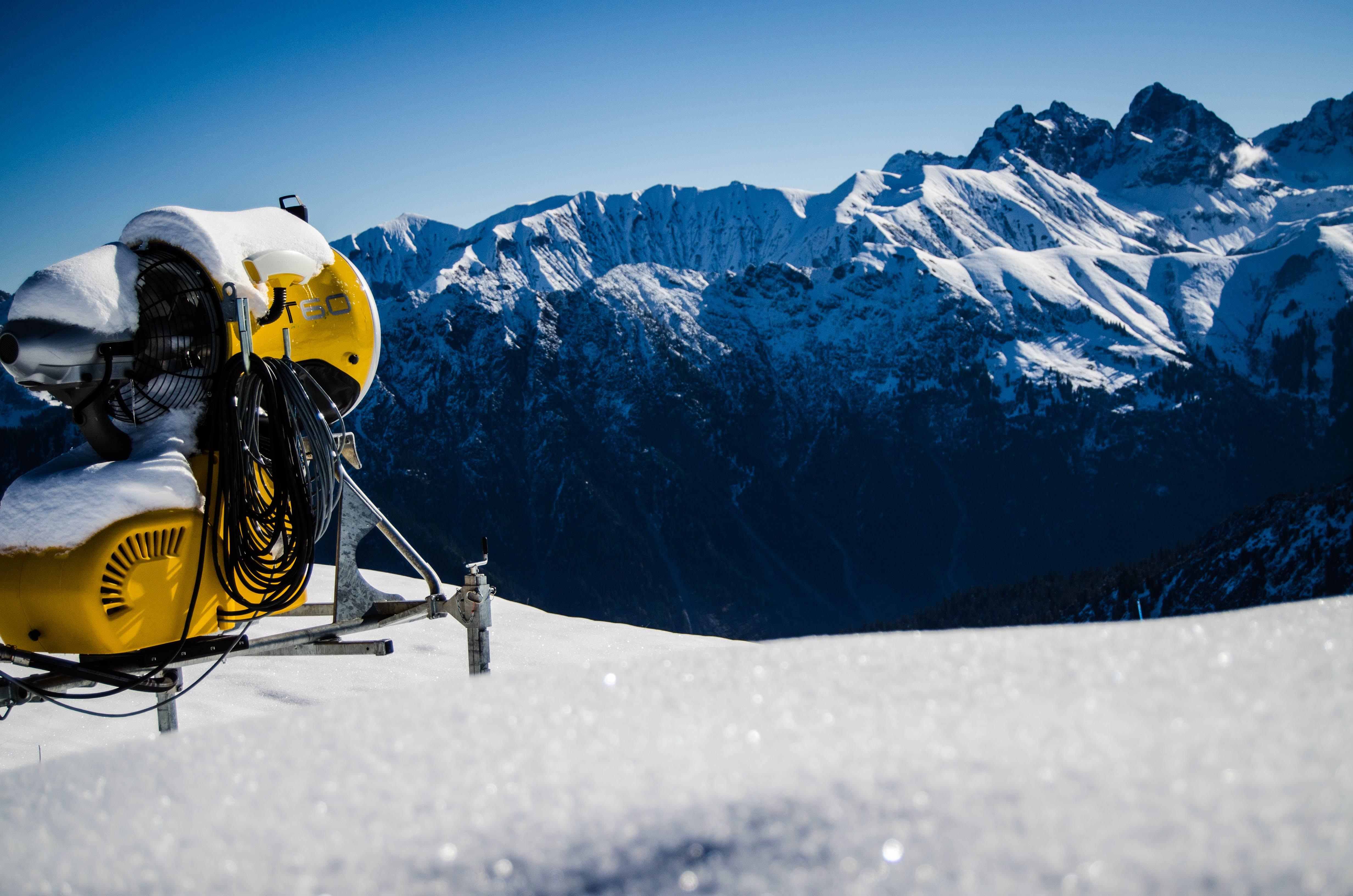 alpin, enneigé, escalader